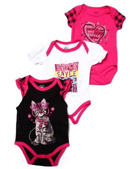 Enyce - Girls Multi 3 Pc Creeper Set (Newborn)