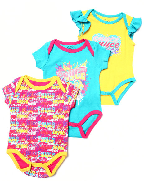Enyce - Girls Multi 3 Pc Creeper Set (Newborn)