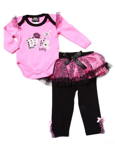 Duck Duck Goose - Girls Pink 2 Pc Diva Tutu Set (Newborn) - $14.00