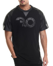 Shirts - Exotic Thrill logo S/S Tee w/ Split leather Applique