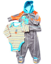 Sets - 3 PC DINOSAUR VELOUR SET (NEWBORN)