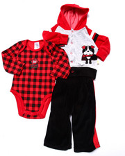 Sets - 3 PC DOGGIE VELOUR SET (NEWBORN)