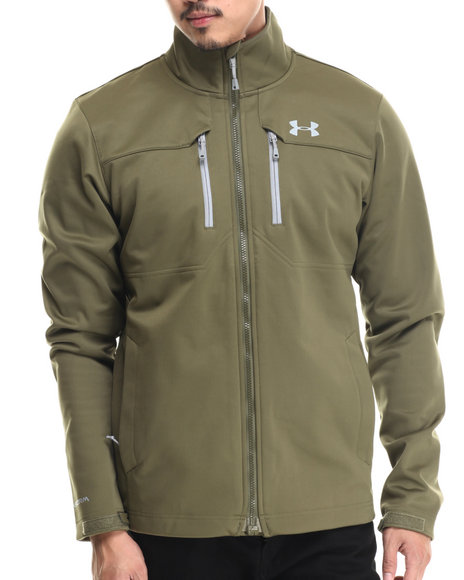 Ur-ID 186852 Under Armour - Men Olive Coldgear Infrared Softshell