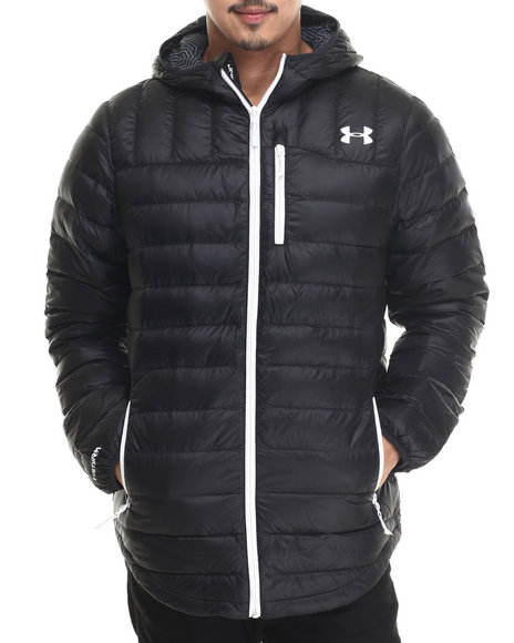 Under Armour - Men Black Coldgear Infrared Turing Hooded Jacket - $201.99