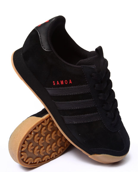 Adidas - Boys Black Samoa Suede J Sneakers (3.5-7)