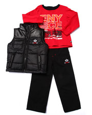 Sets - 3 PC SET - PUFFER VEST, TEE, & JEANS (2T-4T)