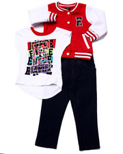 Sets - 3 PC SET - VARSITY JKT, TEE, & JEANS ( 2T-4T)
