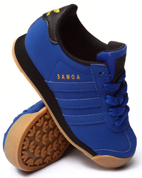Adidas - Boys Blue Samoa C Sneakers (11-3)