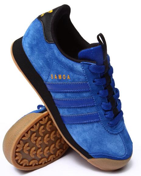 Adidas - Boys Blue Samoa Suede J Sneakers (3.5-7) - $57.00