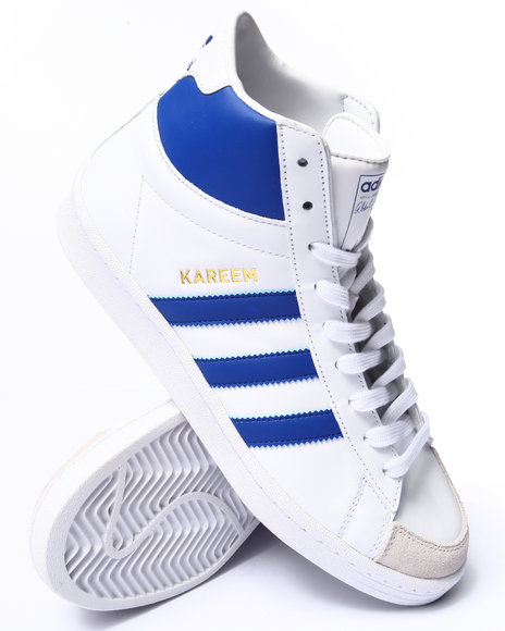 Adidas - Men Blue,White Jabbar Hi Sneakers - $85.00