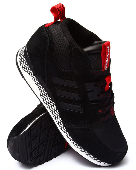 Adidas - Men Black,Red Zx Casual Mid Sneakers