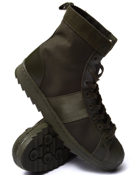 Adidas - Men Green Superstar Jungle Boot Sneakers