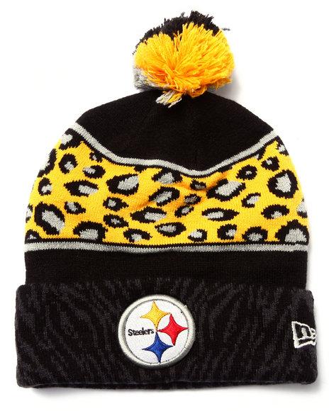 New Era Men Pittsburgh Steelers Polar Prints Knit Hat Multi