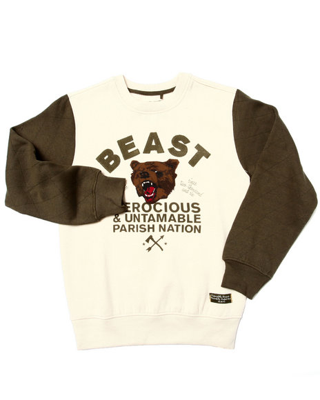 Parish - Boys Cream Beast Crewneck Sweatshirt (8-20)