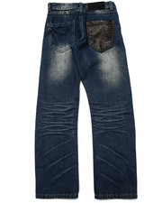 Sizes 8-20 - Big Kids - SNAKE TRIM DISTRESSED JEANS (8-20)