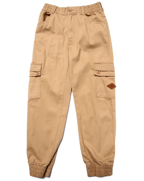 Parish - Boys Khaki Twill Cargo Joggers (8-20)