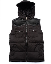 Parish - FAUX LEATHER TRIM PUFF VEST (8-20)