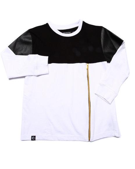 Akademiks - Boys Black Cut & Sew Shirt (8-20) - $23.99