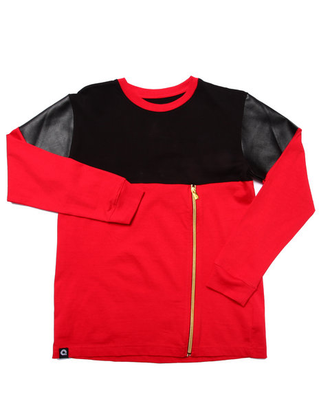 Akademiks - Boys Red Cut & Sew Shirt (8-20)