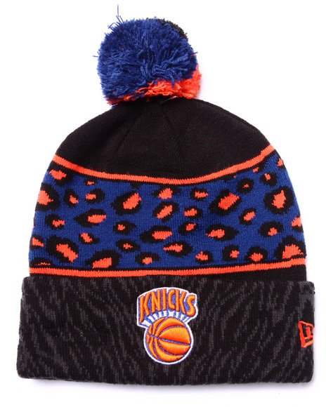 Ur-ID 222925 New Era - Men Black New York Knicks Polar Prints Knit Hat