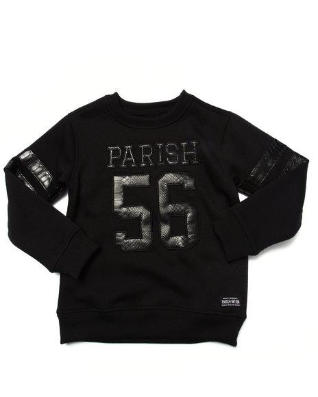 Parish - Boys Black Snake Applique Crewneck Sweatshirt (4-7)