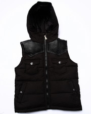 Sizes 4-7x - Kids - FAUX LEATHER TRIM PUFF VEST (4-7)