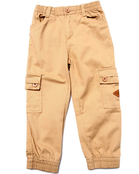 Parish - Boys Khaki Twill Cargo Joggers (4-7)