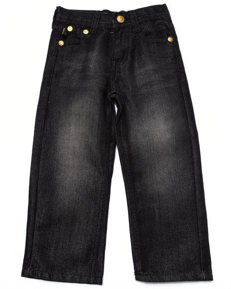 Akademiks - Boys Black,Black Fanback Jeans (4-7) - $23.99
