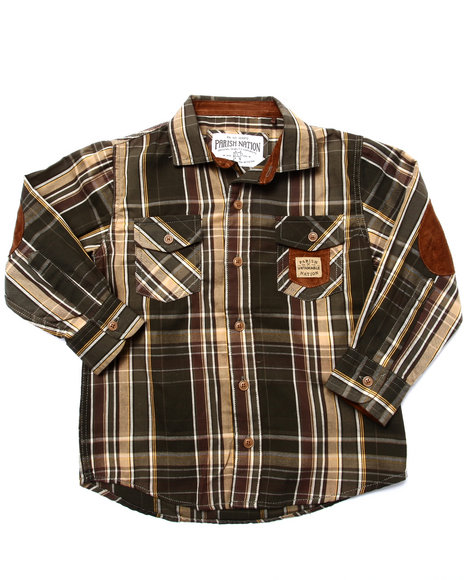 suede patch plaid woven  4 7