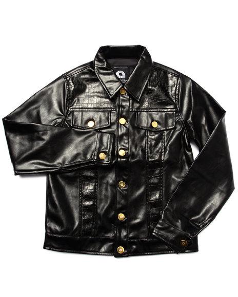 Akademiks - Boys Black Embossed Croc Jacket (8-20) - $43.99