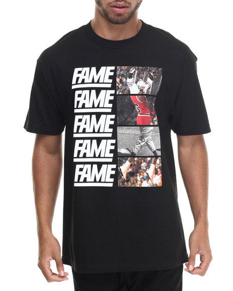 Hall Of Fame - Men Black Cut & Paste Tee