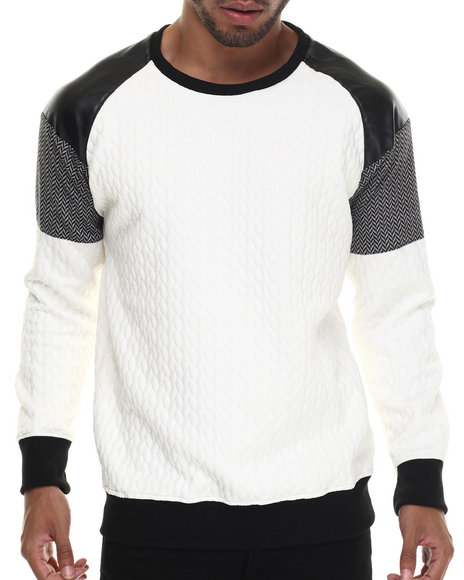 Ur-ID 187928 Buyers Picks - Men Off White Mo7 Cut & Sewn Secretl Fabricated Crewneck Sweatshirt