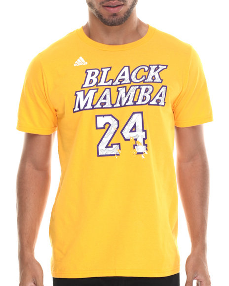 Adidas - Men Yellow Black Mamba Nickname Tee