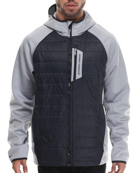 Ur-ID 187888 Under Armour - Men Grey Coldgear Infrared Werewolf Hooded Jacket