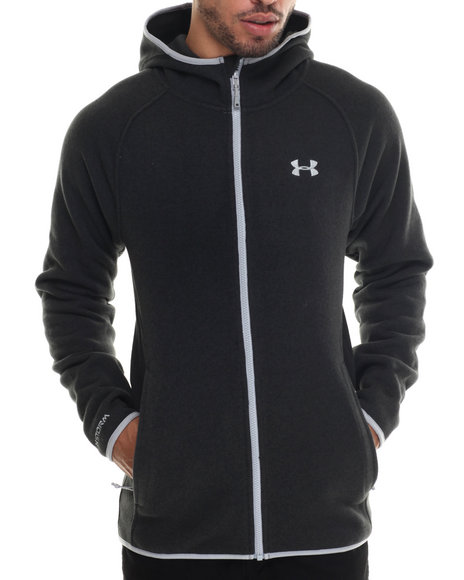 Under Armour - Men Black Forest Fz Hoody