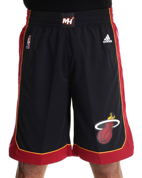 Adidas - Men Black Miami Heat Swingman Short