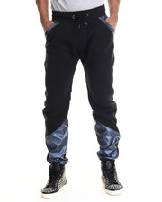 Jeans & Pants - Faux Leather Metallic Jogger Pants