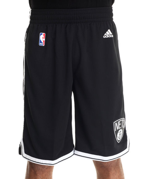 Adidas - Men Black Brooklyn Nets Swingman Short