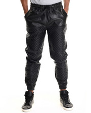 Jeans & Pants - Mo7 Faux Leather Quilted Jogger Pant