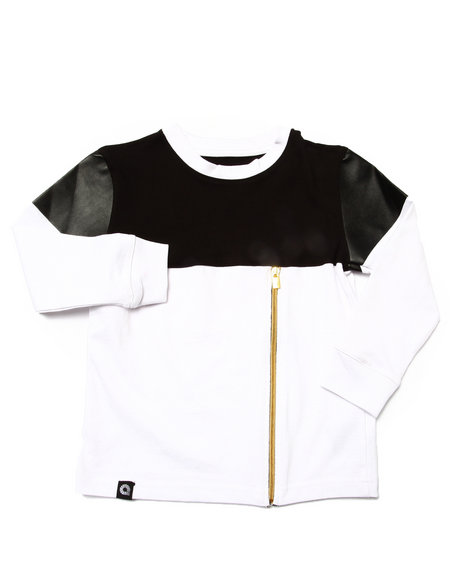Akademiks - Boys Black Cut & Sew Shirt (4-7)