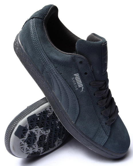 Puma - Men Grey Suede Classic Rebel Mix Sneakers