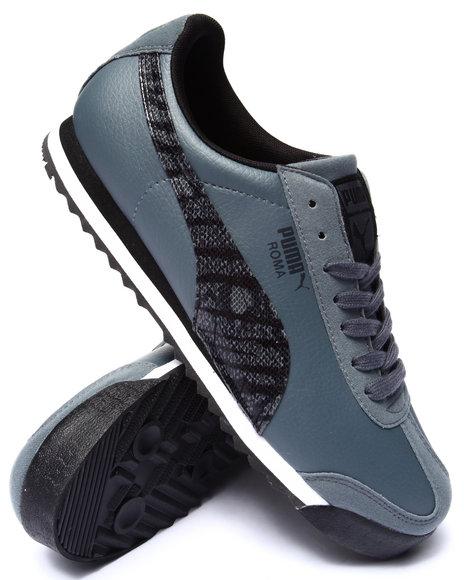 Puma - Men Grey Roma Sl Nbk 2 Wild Rebel Sneakers