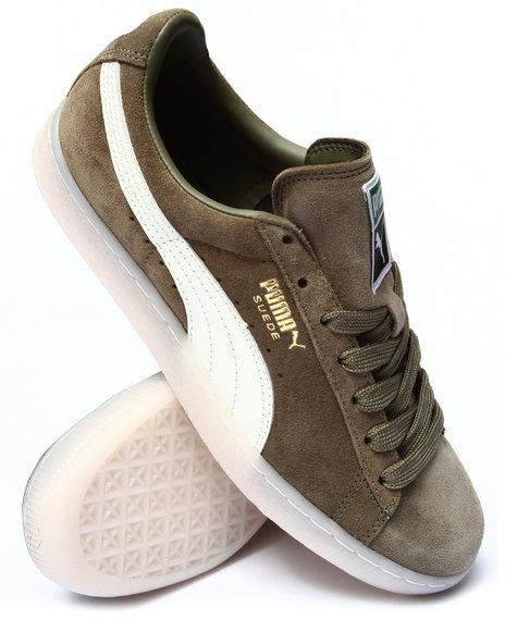 Puma - Men Grey Suede Classic Leather