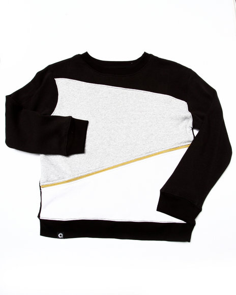 Akademiks - Boys Black Cut & Sew Sweatshirt (8-20)