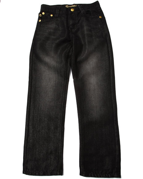 Akademiks - Boys Black Fanback Jeans (8-20)