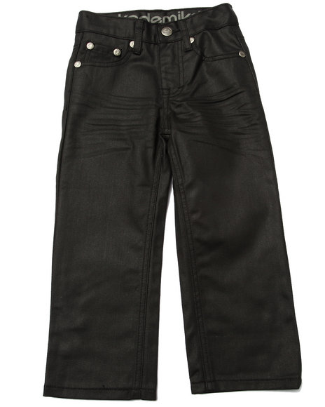 Akademiks - Boys Black Wax Coated Jeans (4-7)