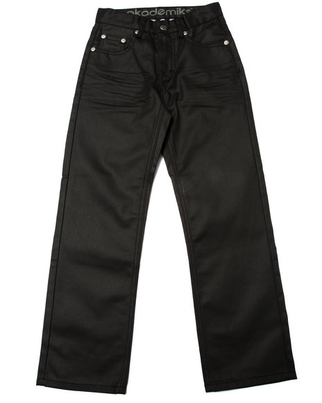 Akademiks - Boys Black Wax Coated Jeans (8-20) - $24.99