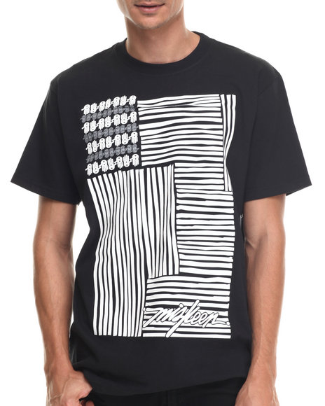 Buyers Picks - Men Black Rep Your Flag S/S Tee