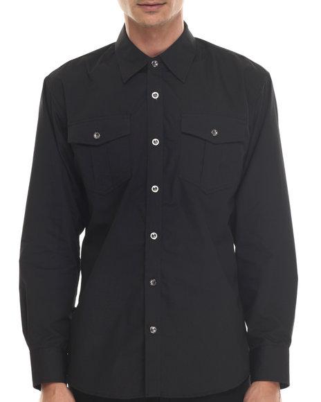 Buyers Picks - Men Black Get Right L/S Button Down Shirt