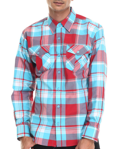 Buyers Picks - Men Red Charlie Iv L/S Button Down Shirt